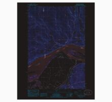USGS Topo Map Washington State WA Oak Point 242887 1985 24000 Inverted Kids Tee