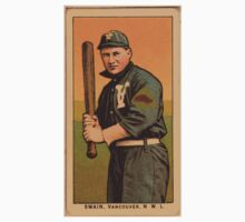 Benjamin K Edwards Collection Swain Vancouver Team baseball card portrait One Piece - Short Sleeve