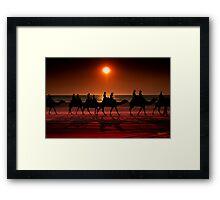 Shadow camels Framed Print