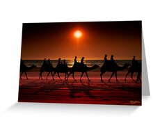 Shadow camels Greeting Card