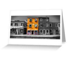 Burano, Venice Italy - 5 Greeting Card