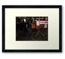 Old Car and Bicycle, Zara Clark Museum, Charters Towers, Qld Framed Print