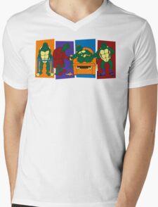 Elderly Mutant Retired Turtles Mens V-Neck T-Shirt