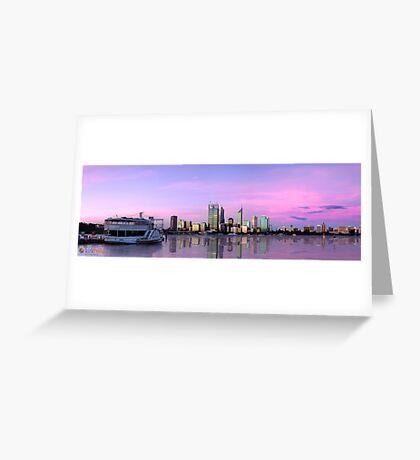 Perth Skyline 2012 Greeting Card