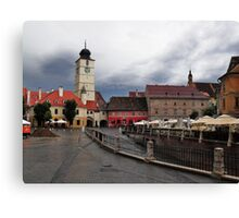 Stormy Afternoon Sibiu Transylvania Canvas Print