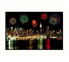 New York City Skyline Independance Day Art Print