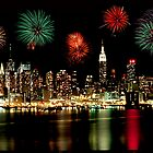 New York City Skyline Independance Day by Anthony L Sacco
