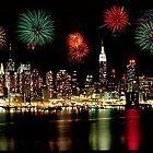 New York City Skyline Independance Day by Anthony L Sacco