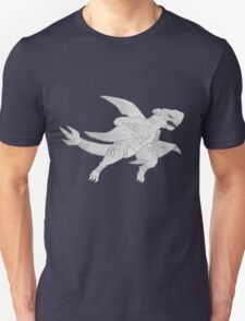 Garchomp - B&W by Derek Wheatley Unisex T-Shirt