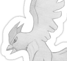 Articuno - B&W by Derek Wheatley Sticker