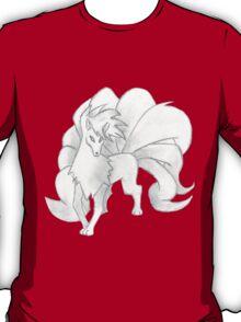 Ninetales - B&W by Derek Wheatley T-Shirt