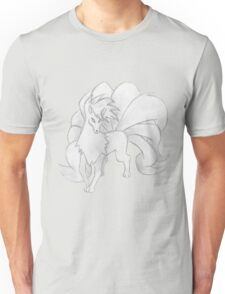 Ninetales - B&W by Derek Wheatley Unisex T-Shirt