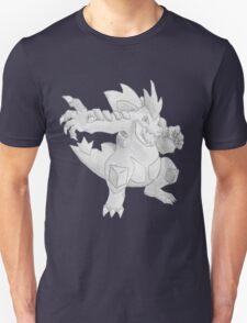 Feraligatr - B&W by Derek Wheatley Unisex T-Shirt