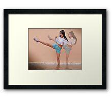 Just for kicks Framed Print