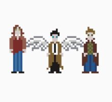 Supernatural Pixels - Sam, Castiel, & Dean One Piece - Short Sleeve