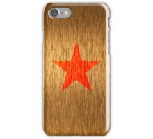 Gold star iPhone Case/Skin