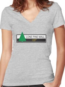 Lone Pine Mall Women's Fitted V-Neck T-Shirt
