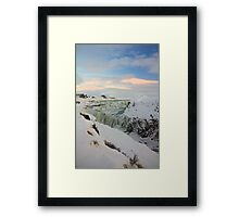 Golden Waterfall - Gullfoss Framed Print