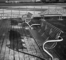 Benches mono by Geoff Carpenter