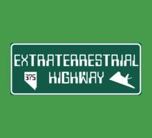 Extraterrestrial Highway, Nevada Road Sign Kids Tee