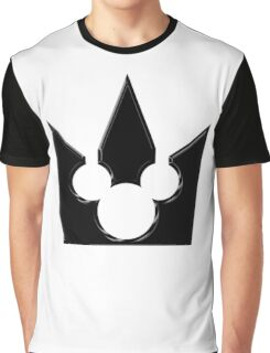 Kingdom Hearts Mickey Crown Poster Graphic T-Shirt