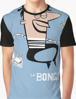 Le Bongo: Beatnik playing the bongos cartoon Graphic T-Shirt