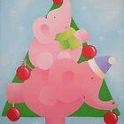 Christmas Elephant by Koekelijn