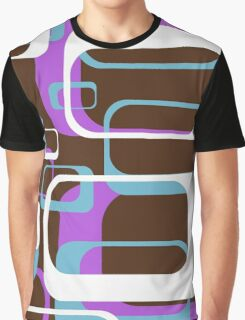 Retro 70's Wallpaper Pattern by Chillee Wilson Graphic T-Shirt