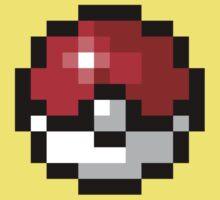 Pixel art Pokeball Kids Tee