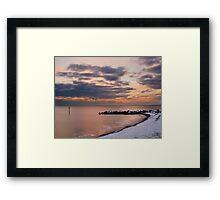 snowy west bay,  Framed Print