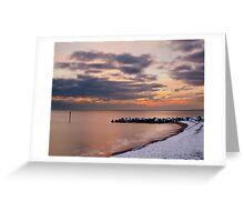 snowy west bay,  Greeting Card
