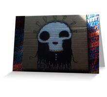 Lord shinny skull face! Greeting Card