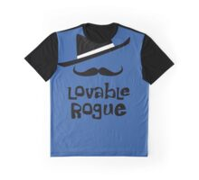 Lovable Rogue - funny vector graphic with mustache and fancy hat Graphic T-Shirt