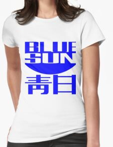 Blue Sun Corporate Logo Womens Fitted T-Shirt