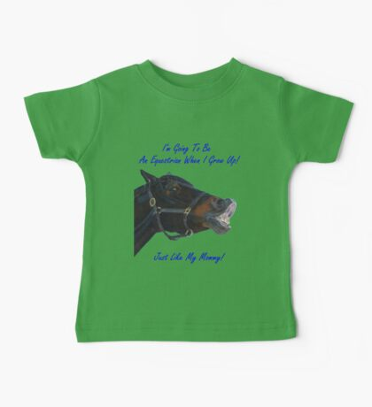 I'm Going To Be An Equestrian - Kids & Toddler T-Shirts & Clothing Baby Tee