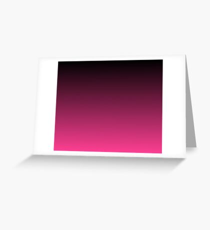 Black To The Fuchsia Greeting Card