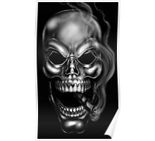 Smoking Skull by RAM Poster