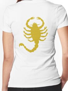 DRIVE SCORPION (GOLD) Women's Fitted V-Neck T-Shirt