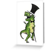 Mr Classy Dino Greeting Card