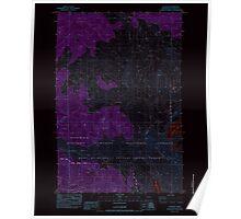 USGS Topo Map Washington State WA Elk Rock 241001 1983 24000 Inverted Poster