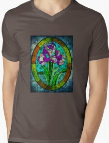 MOTHER NATURE CALLING FROM BEYOND THE STAIN GLASS WINDOW Mens V-Neck T-Shirt
