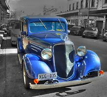 Blue Car by Sharon Brown