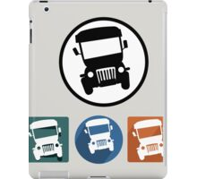 Jeepney icons iPad Case/Skin
