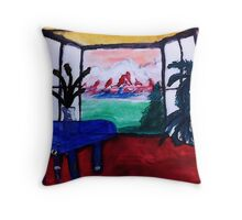 My dream room,,,watercolor Throw Pillow