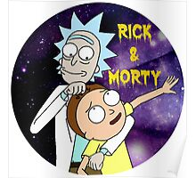 Rick and morty round Poster