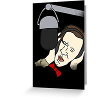 Backing Vocals Greeting Card