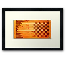 Indian Turkey Chess Table Landscape Framed Print