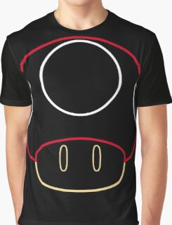 More Minimalist Mario Mushroom Graphic T-Shirt