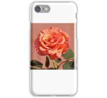 LONG STEM PEACH ROSE iPhone Case/Skin