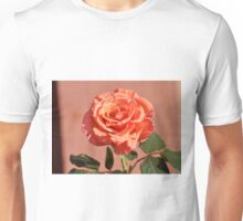 LONG STEM PEACH ROSE Unisex T-Shirt